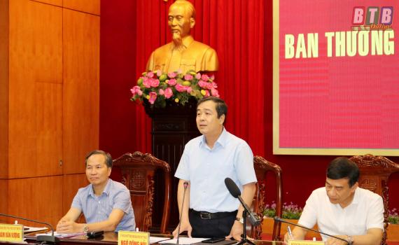 Ủy ban nhân dân tỉnh làm việc với Ban Thường vụ Hiệp hội doanh nghiệp tỉnh