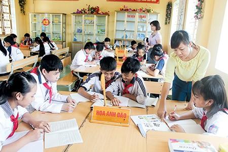 Mô hình trường học mới ở Trường THCS Phương Cường Xá
