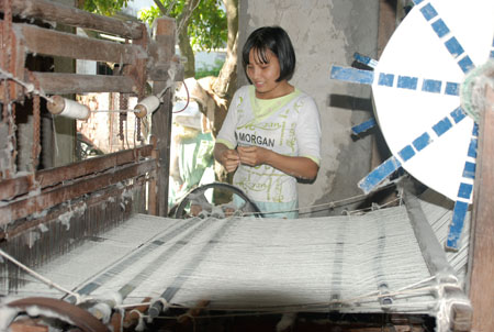 Dệt vải làng Phương La