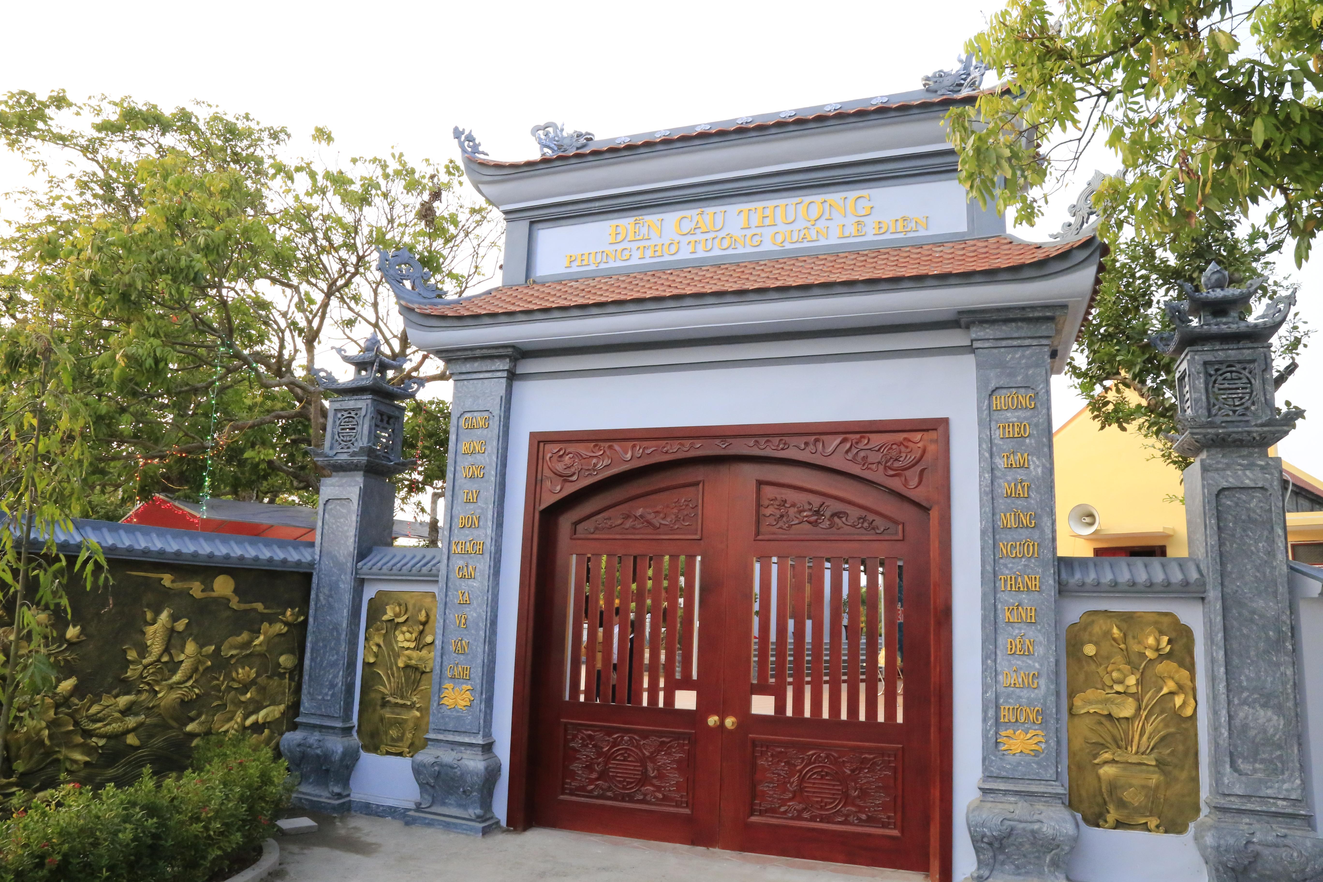 Đền Cầu Thượng Phụng thờ Tướng quân Lê Điện